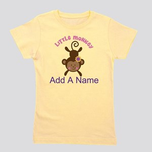 Girl Monkey Personalized Girl's Tee