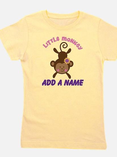 Girl Monkey Personalized Girl's Tee