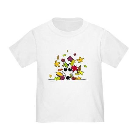 Corgi in Fall Leaves Toddler T-Shirt