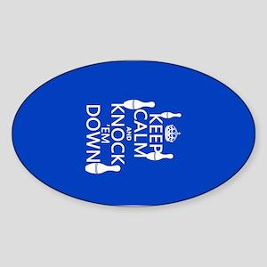 Keep Calm and Knock Em Down Sticker