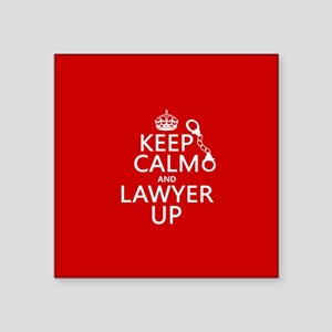 Keep Calm and Lawyer Up Sticker