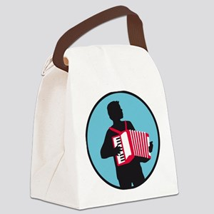 Accordion player Canvas Lunch Bag