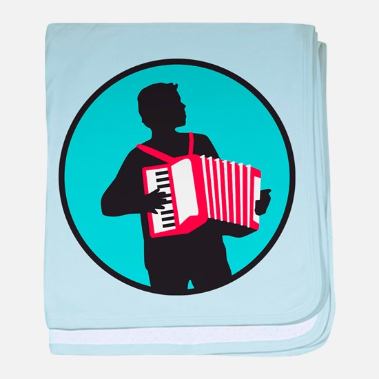 Accordion player baby blanket