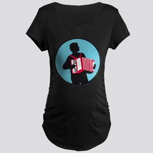 Accordion player Maternity T-Shirt