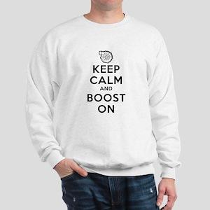 Keep Calm Boost On Sweatshirt