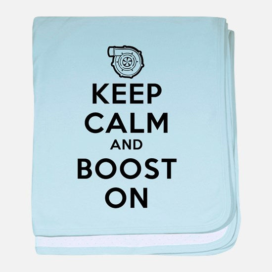 Keep Calm Boost On baby blanket