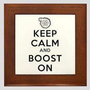 Keep Calm Boost On Framed Tile