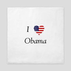 I love Obama (flag) Queen Duvet