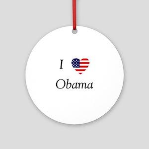 I love Obama (flag) Ornament (Round)