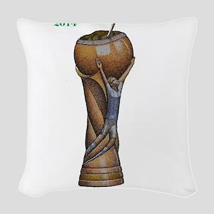 Argentina en la Copa de 2014 Woven Throw Pillow