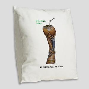 Argentina en la Copa de 2014 Burlap Throw Pillow