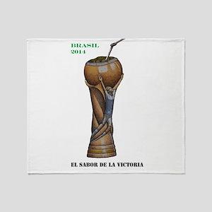 Argentina en la Copa de 2014 Throw Blanket