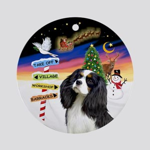 Xsigns - Tri Cavalier King Charlesornament (round)