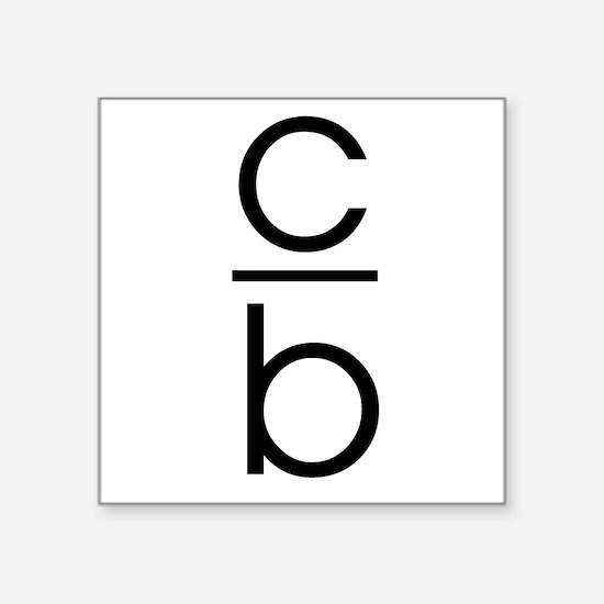 C Over B Sticker