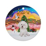 Xmusic2-Bichon Ornament (round)