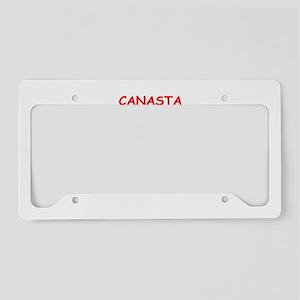 CANASTA License Plate Holder