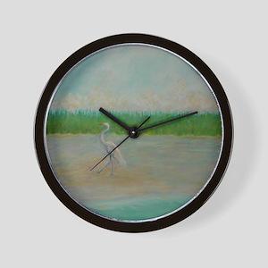 EAST COAST GREAT EGRET Wall Clock