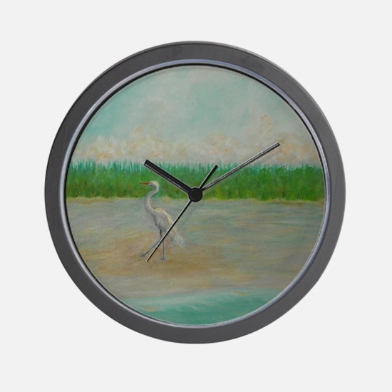 EAST COAST GREAT EGRET Wall Clock