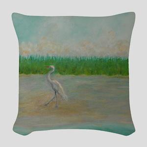 EAST COAST GREAT EGRET Woven Throw Pillow