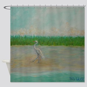 EAST COAST GREAT EGRET Shower Curtain