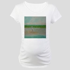 EAST COAST GREAT EGRET Maternity T-Shirt