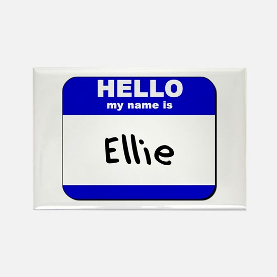 hello my name is ellie Rectangle Magnet