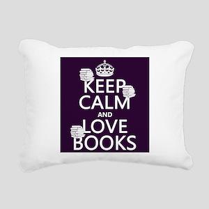 Keep Calm and Love ... Rectangular Canvas Pillow