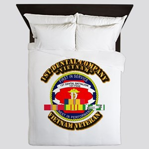 USMC - 1st Dental Company w VN SVC Queen Duvet