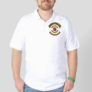 Medical Command Korea with Text Golf Shirt