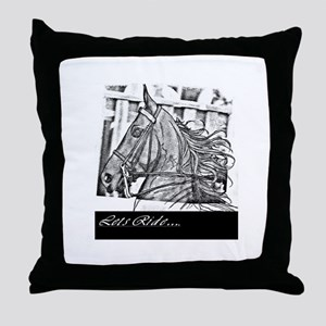 Saddlebred - Lets ride Throw Pillow