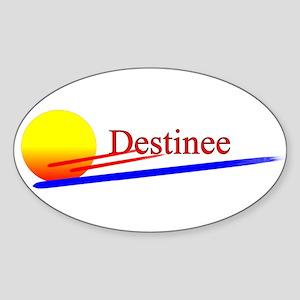 Destinee Oval Sticker