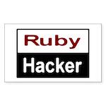 Ruby hacker Sticker (Rectangle)