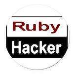 Ruby hacker Round Car Magnet