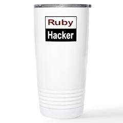 Ruby hacker Stainless Steel Travel Mug