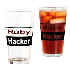 Ruby hacker Drinking Glass