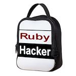 Ruby hacker Neoprene Lunch Bag