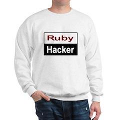 Ruby hacker Sweatshirt