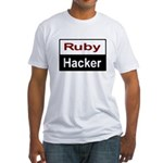 Ruby hacker Fitted T-Shirt
