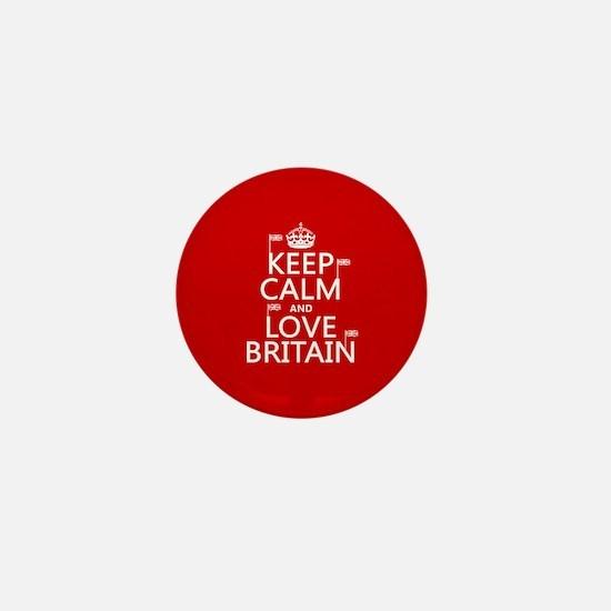 Keep Calm and Love Britain Mini Button