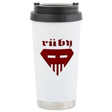Speed-metal Ruby Stainless Steel Travel Mug