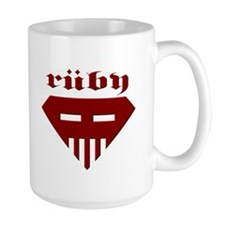 Speed-metal Ruby Large Mug