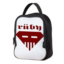 Speed-metal Ruby Neoprene Lunch Bag