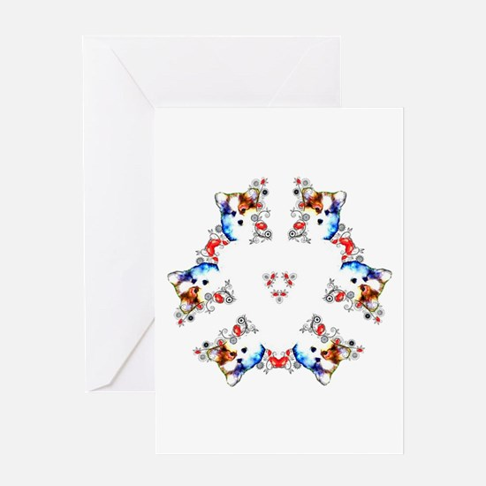 Way too cute Corgi Heart Greeting Cards