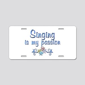 Singing Passion Aluminum License Plate
