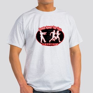 Zombies Against Fast Food (red) T-Shirt