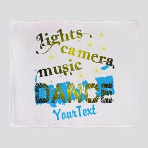 CUSTOMIZE Text Dance Throw Blanket