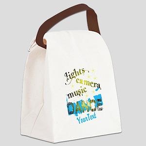 Lights Dance Optional Text Canvas Lunch Bag