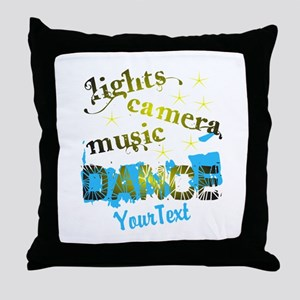 CUSTOMIZE Text Dance Throw Pillow