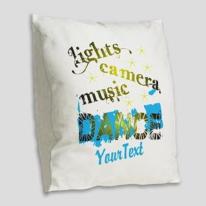 CUSTOMIZE Text Dance Burlap Throw Pillow