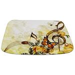 Butterfly Music Notes Bathmat